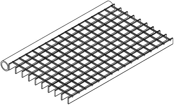 Zeichnung eines hygro care® Stahlgitter