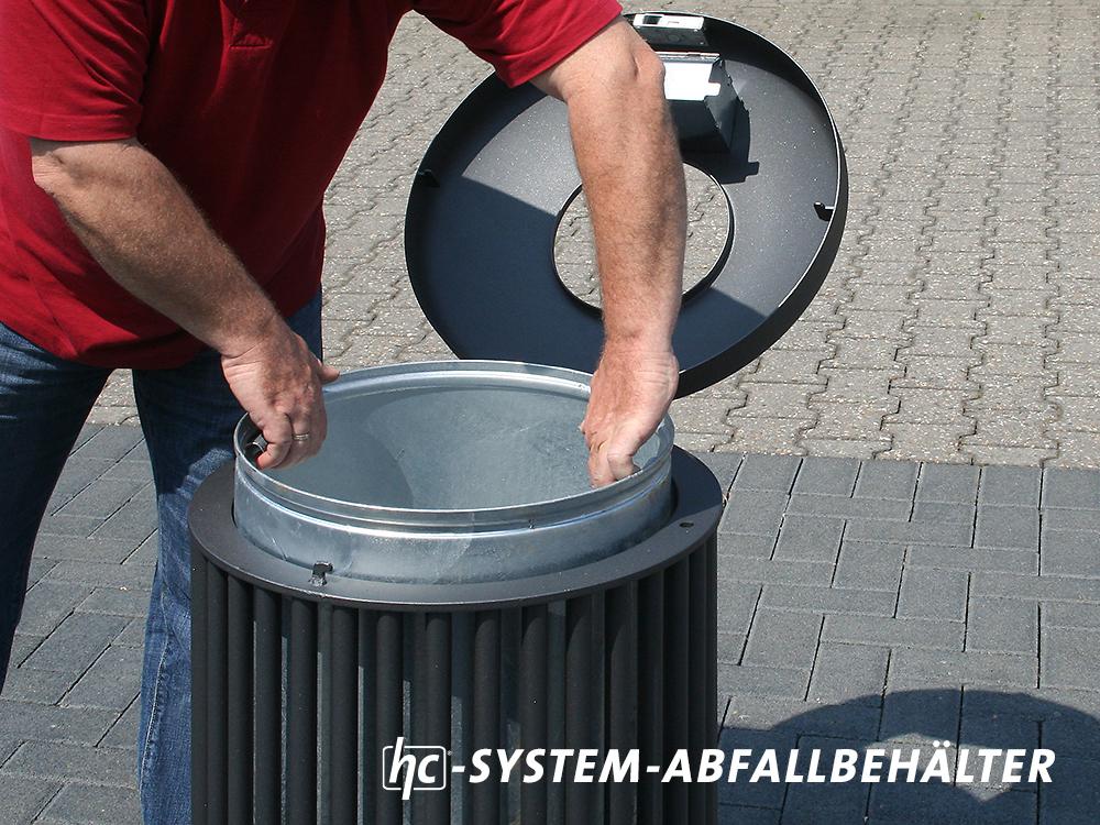 hygrocare Abfallbehälter aus Rundrohrstahl