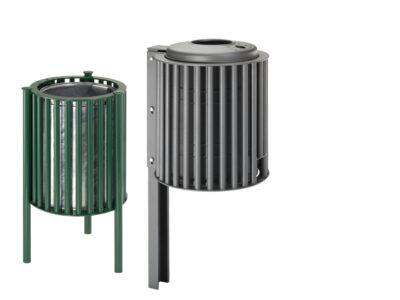 Abfallbehälter Stahl Rundrohr
