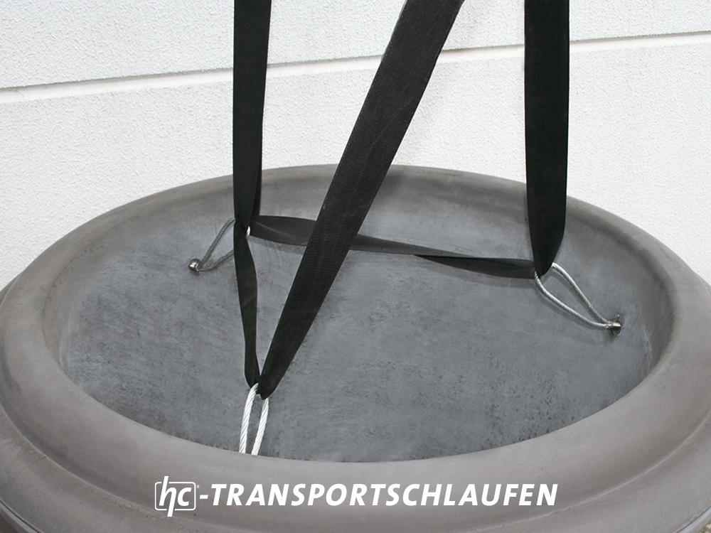 hygrocare Betonpflanzgefäß mit Transportschlaufen