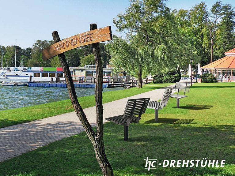 hygrocare Stadmobiliar: Drehstuhl-Bank